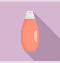 Conditioner red bottle icon flat style vector