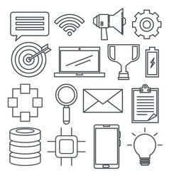 Connectivity 5g technology icons vector