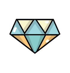 Cute diamond elegant accessory design vector