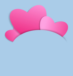 cutout heart paper design vector image