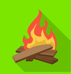Design campfire and warm logo vector