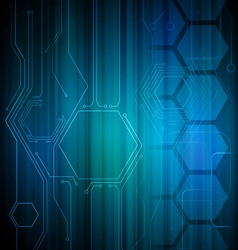 Digital Honeycomb Background vector image
