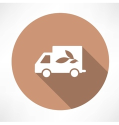 Eco truck icon vector