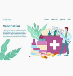 epedemic vaccination virus infection protection vector image