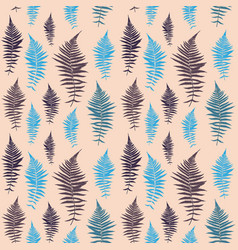 fern leaf fern leaf seamless pattern background vector image