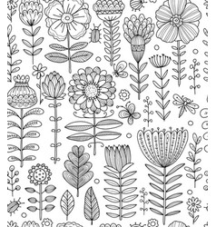 floral meadow seamless pattern for your design vector image