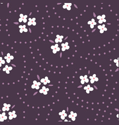 floral seamless pattern with white flowers on vector image