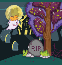 halloween night cartoons vector image
