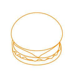 Hamburger fast food vector