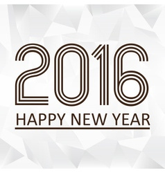 Happy new year 2016 on the triiangle papaper vector