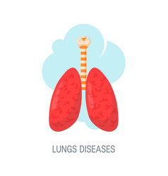 Human lungs diseases concept in flat style vector