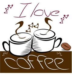 I-love-coffe vector
