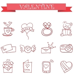 Icon of valentine day with bear love vector