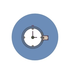 In flat design of time vector