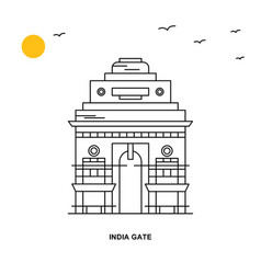 India gate monument world travel natural vector