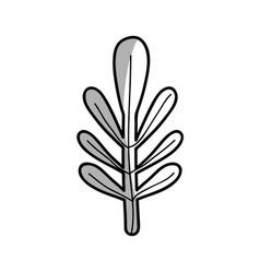 Line nice organic leaf plant vector