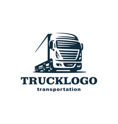 logo truck and trailer vector image