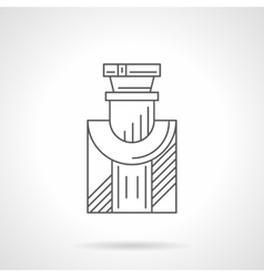 Mens cologne flat line icon vector image