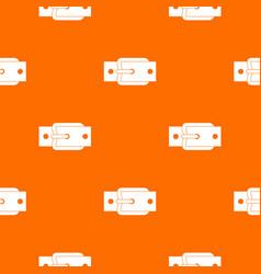 Metal belt buckle pattern seamless vector