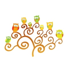 Owls on a tree vector image
