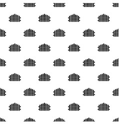 palisade icon simple black style vector image