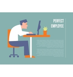 Perfect employee banner with businessman vector