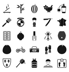 perfume icons set simple style vector image