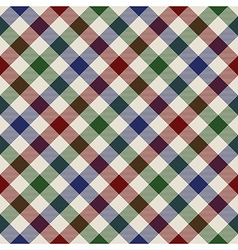 plaid material green red blue seamless pattern vector image