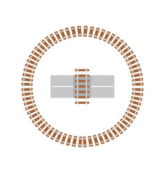 rail switch round railroad track traffic vector image