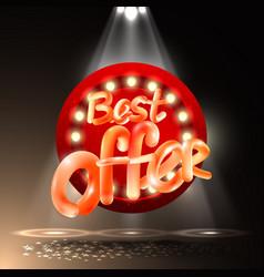Retro billboard best offer sale and discount vector