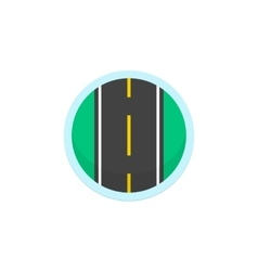 Road icon sign round symbol with highway vector