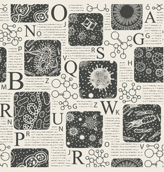 Seamless pattern on a medical scientific theme vector