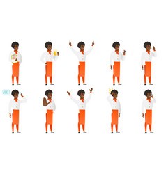 Set of chief-cooker characters vector