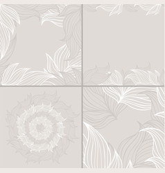 set of four seamless floral background patterns of vector image