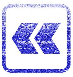 Shift left framed textured icon vector