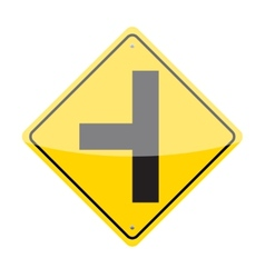 Side Road Sign vector