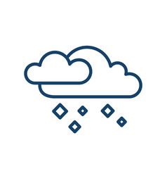 simple icon with hailstones falling from clouds vector image