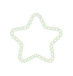 star shaped frame sewing seams and stitches the vector image