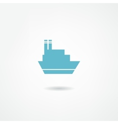Steamboat icon vector image