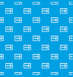 tablet pattern seamless blue vector image