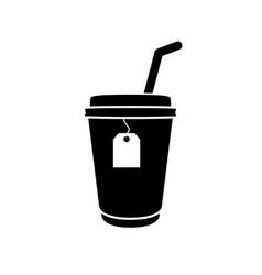 tea icon cup tea vector image