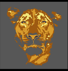 tiger walking from dark logo design vector image