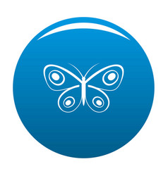 Tiny butterfly icon blue vector