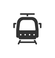 Train front view glyph style icon vector