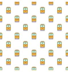 Train pattern cartoon style vector