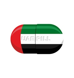 UAE patriotic pill United Arab Emirates Capsule vector image