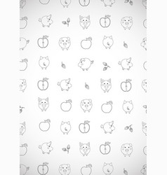 Vertical greeting card with cute cartoon pigs vector