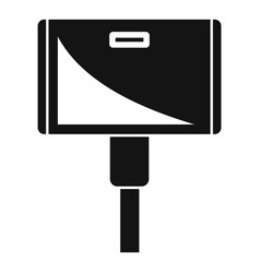 Wide adapter icon simple style vector