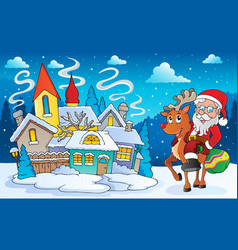 winter scene with christmas theme 5 vector image