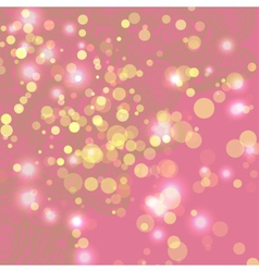 Abstract pink background with ligths vector image vector image